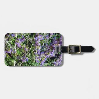 Purple Lavender Botanical Flowers. Luggage Tag