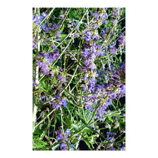 Purple Lavender Botanical Flowers. Stationery