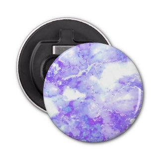 Purple Lavender Cloudy Marble Stone Bottle Opener