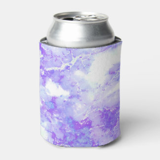 Purple Lavender Cloudy Marble Stone Can Cooler