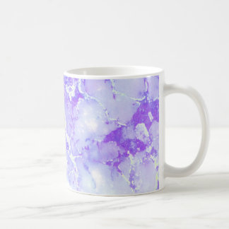 Purple Lavender Cloudy Marble Stone Coffee Mug