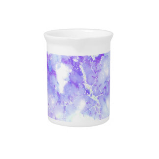 Purple Lavender Cloudy Marble Stone Pitcher