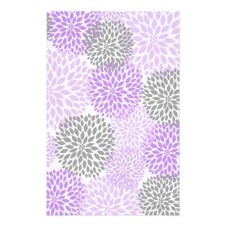 Purple Lavender Dahlia Scrapbook Crafting Paper