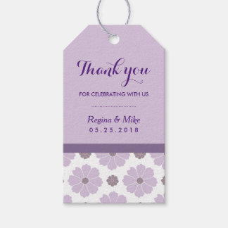 Purple Lavender Flower Pattern Thank you Gift Tags