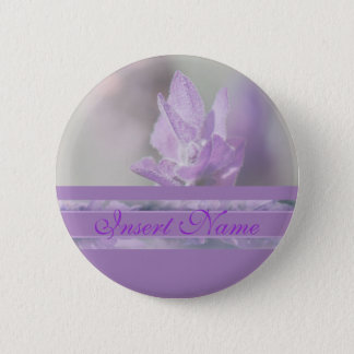 Purple lavender flower wedding | Personalize 6 Cm Round Badge