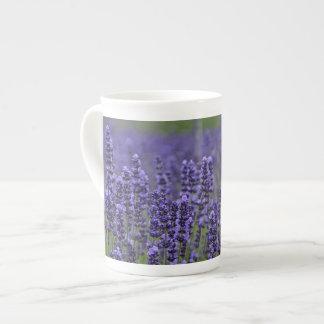 Purple lavender flowers tea cup