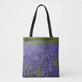 Purple lavender flowers tote bag