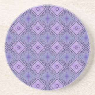 Purple Lavender Geometric Diamond Shaped Pattern Coaster
