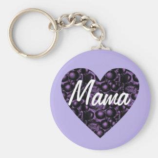Purple/Lavender Glam Heart Mama Keychain