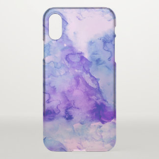Purple lavender hand painted abstract watercolor iPhone x case
