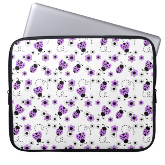 Purple Lavender Ladybug Lady Bug Floral Teen Girl Computer Sleeve