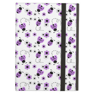 Purple Lavender Ladybug Lady Bug Floral Teen Girl iPad Air Cover