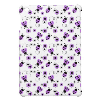 Purple Lavender Ladybug Lady Bug Floral Teen Girl iPad Mini Covers