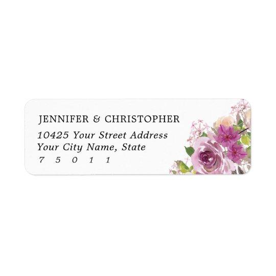 Purple Lavender Wedding Return Address Labels
