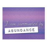 Purple Law of Attraction Abundance Affirmation Postcard