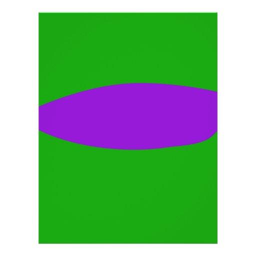Purple Leaf Green Background Custom Flyer