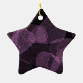 Purple Leaf X-Ray.png Ceramic Star Decoration