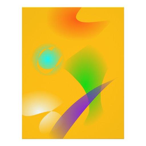 Purple Leaf Yellow Background Flyer Design