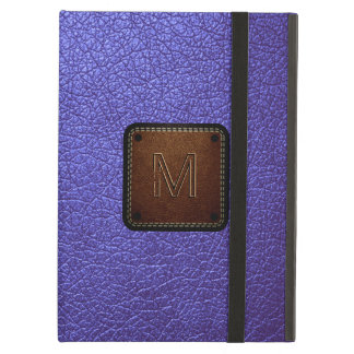 Purple leather look brown tag iPad air cover