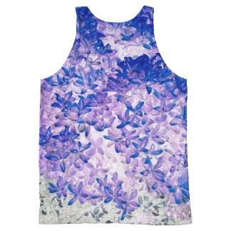 Purple leaves All-Over print singlet