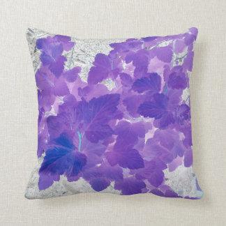 Purple leaves cushion