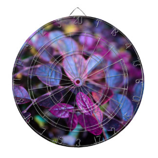 Purple leaves dartboard