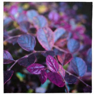Purple leaves napkin