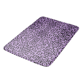 Purple Leopard Animal Print Bath Mat