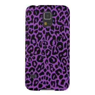 Purple Leopard Animal Print Galaxy S5 Case