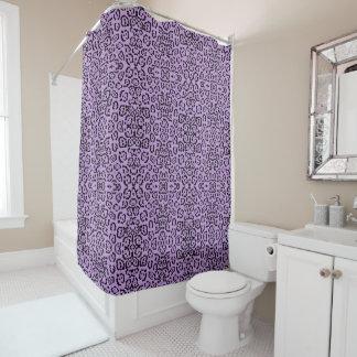 Purple Leopard Animal Print Shower Curtain