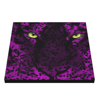 Purple Leopard Animal Print Wall Art Canvas Prints