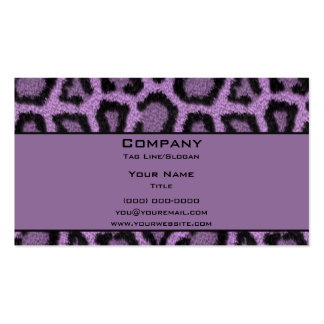 Purple Leopard Double-Sided Standard Business Cards (Pack Of 100)