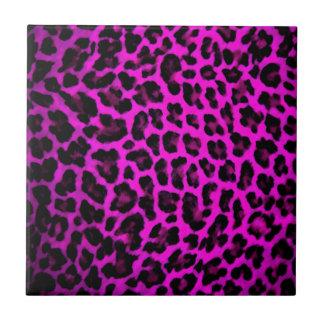 Purple Leopard Print Ceramic Tile