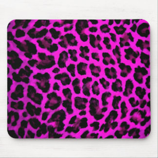 Purple Leopard Print Mouse Pad