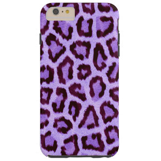 purple leopard print pattern - wild fun punk rock tough iPhone 6 plus case