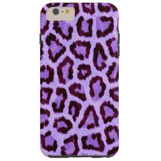 purple leopard print pattern - wild fun punk rock tough iPhone 6 plus case
