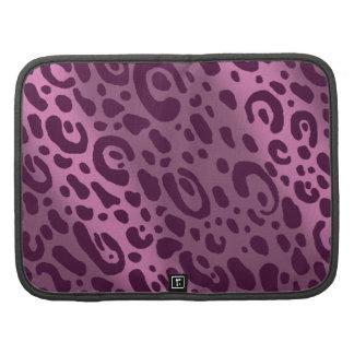 Purple Leopard Print Smartphone Folio Organizers