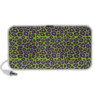 Purple Leopard Mp3 Speakers