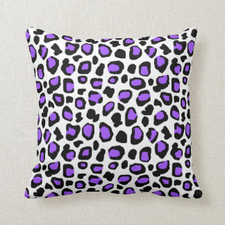 Purple Leopard Spots Animal Print Pattern Girls Cushion