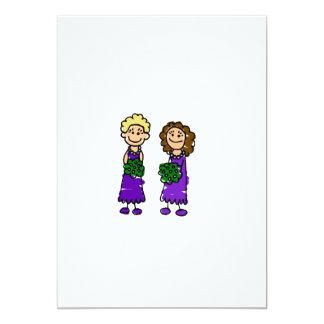 Purple Lesbian Brides 13 Cm X 18 Cm Invitation Card