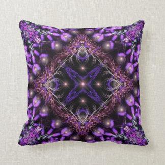 Purple Light Fractal Tapestry  American MoJo Pillo Cushion