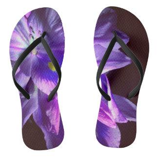 Purple Light Painted Slippahs Thongs
