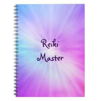 Purple light Reiki Master design Spiral Notebook