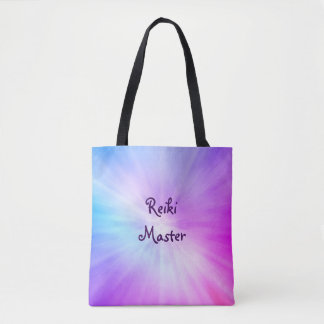 Purple light Reiki Master design Tote Bag