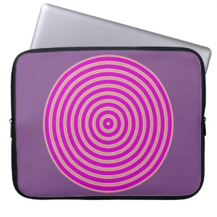 purple light yellow line Neoprene Laptop sleeve