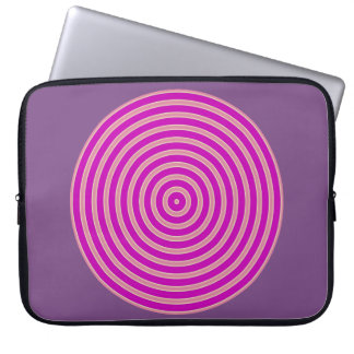 purple light yellow line Neoprene Laptop sleeve