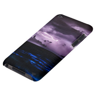 Purple Lightning at Night iPod Case-Mate Cases