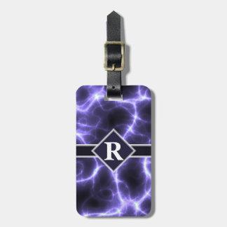 Purple Lightning with Monogram Luggage Tag