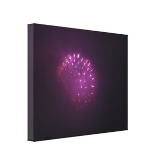 Purple Lights Gallery Wrapped Canvas
