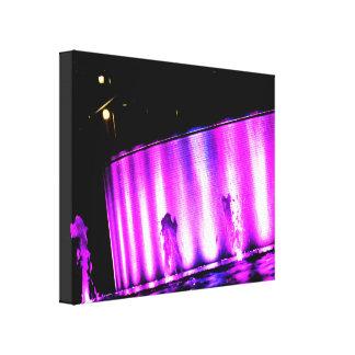 Purple Lights Stretched Canvas Print